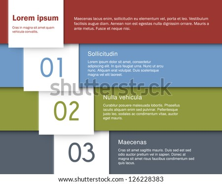 Origami background. Four steps formed by folded paper. EPS10 vector