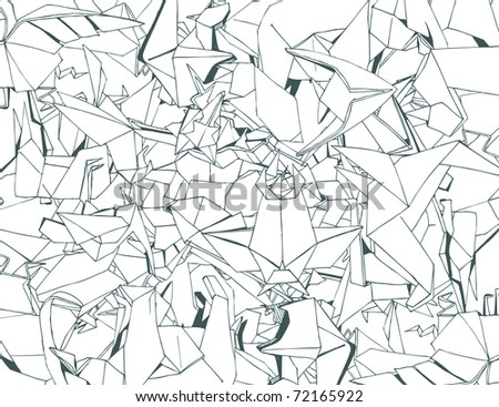 Origami Background (retro vector) - stock vector