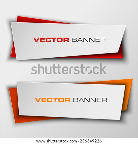 origami banner  colorful