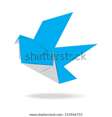 origami bird  illustration eps