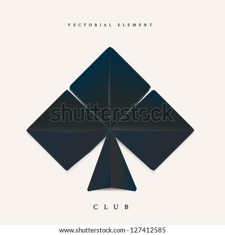 Origami club element