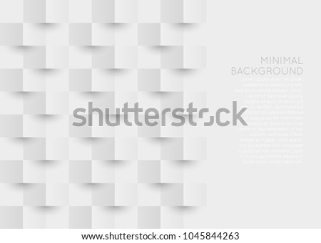 Origami 3d style background. White and gray geometric background with space for text. #1045844263