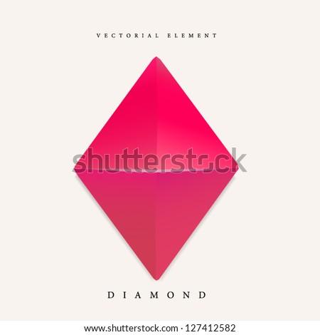 Origami diamond element
