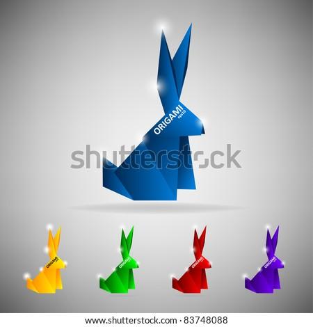 Origami hare