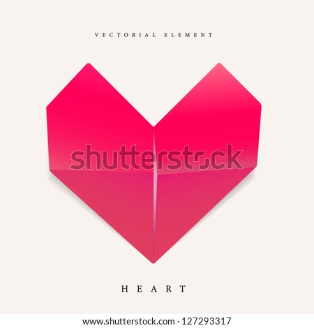 Origami heart element