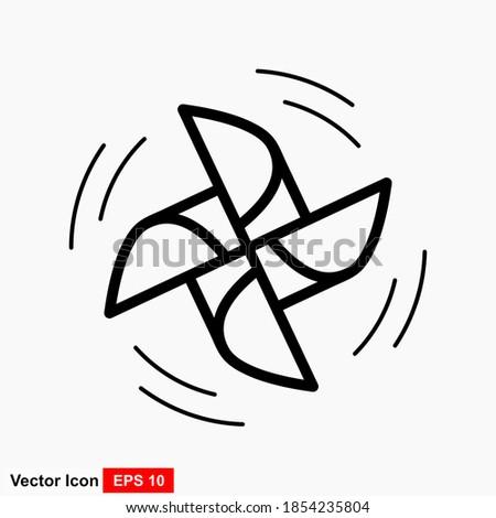 Origami mill icon. Cartoon illustration of origami mill vector icon for web design Foto stock ©
