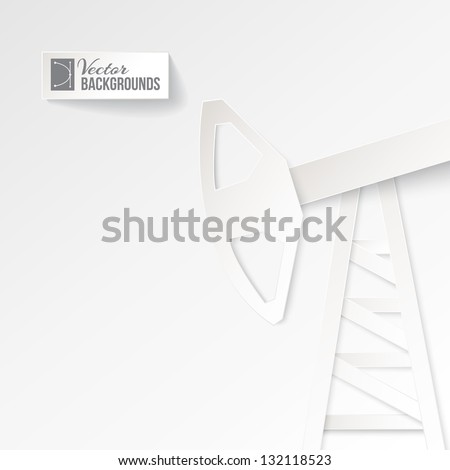 Origami oil pump on a white background. Vector illustration, contains transparencies, gradients and effects.