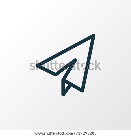 Origami Outline Symbol. Premium Quality Isolated Send Element In Trendy Style.
