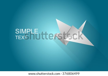 origami paper bird icon with