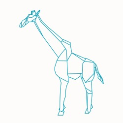 Origami paper craft giraffe, easy making diagram. Origami is the art of paper folding, which is often associated with Japanese culture