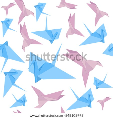 origami paper crane background