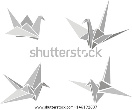 Origami Paper Animal Vector