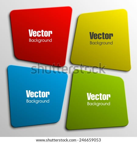 Origami paper infographic colorful banners set. Design shape. Vector label tag.