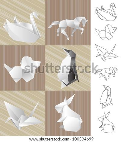 origami paper rabbits
