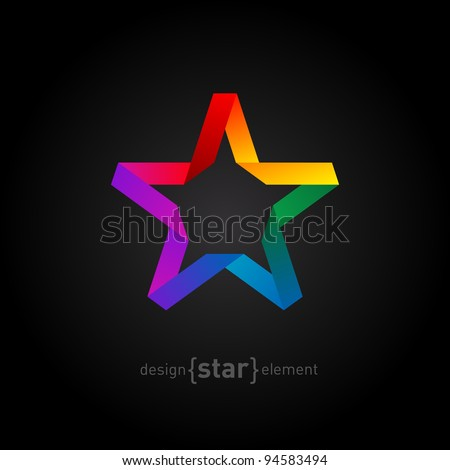 origami rainbow star from paper