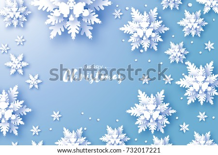 origami snowfall merry
