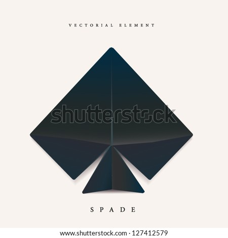 Origami spade element