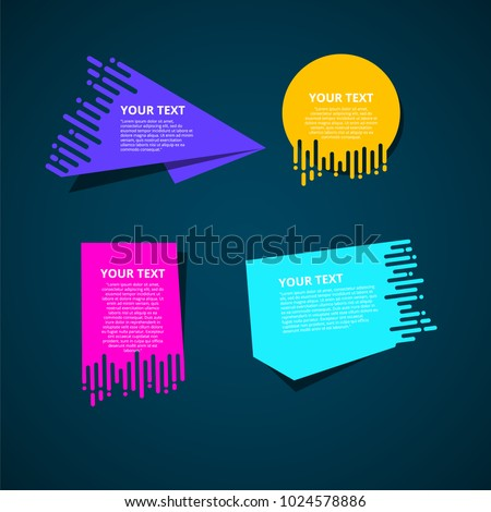 Origami speed box:big sale. special sale. super sale.  Vector abstract geometric origami