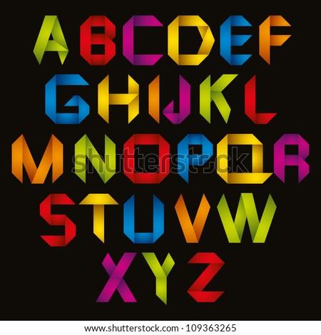 Origami Style Alphabet...