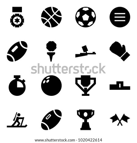 Origami style icon set - medal vector, basketball, soccer, volleyball, football, golf, paintball, box, stopwatch, bowling, cup, pedestal, biathlon, sport, competition, flags