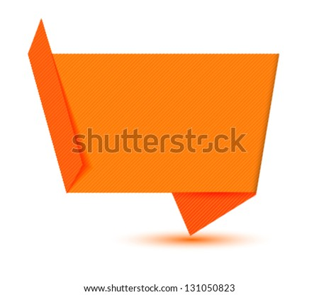 origami style label, banner, background