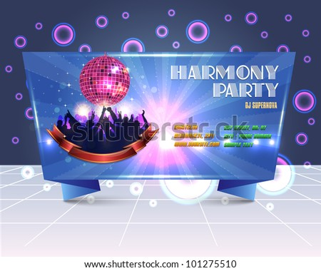 Origami Style Party Banner Template Vector Design