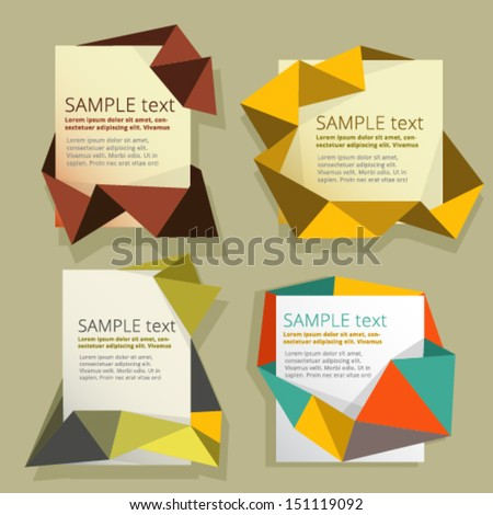 Origami text boxes