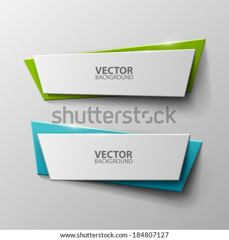 Origami vector banners set