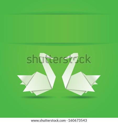 origami  white folded paper