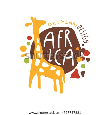 original african logo with cute