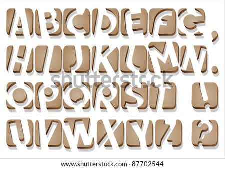 Original Alphabet.Vector .Clip Art