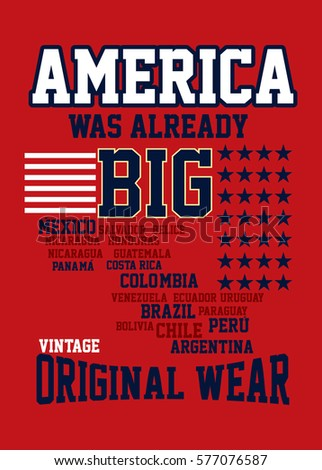 original america vintage t