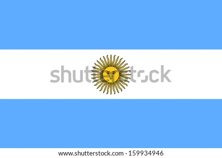 Shutterstock original and simple Argentina flag isolated vector in official colors and Proportion Correctly