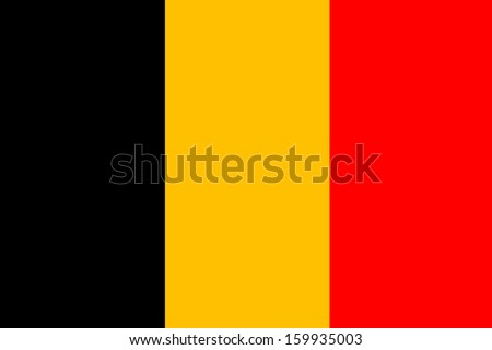 original and simple Belgium flag isolated vector in official colors and Proportion Correctly