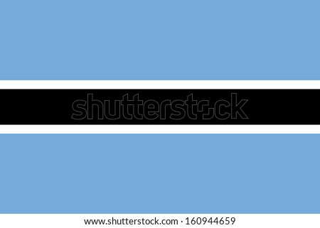 original and simple Botswana flag isolated vector in official colors and Proportion Correctly