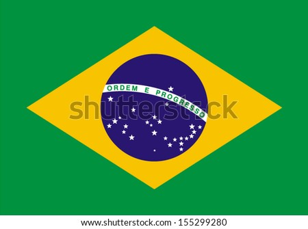 Shutterstock original and simple Brazil flag isolated vector in official colors and Proportion Correctly