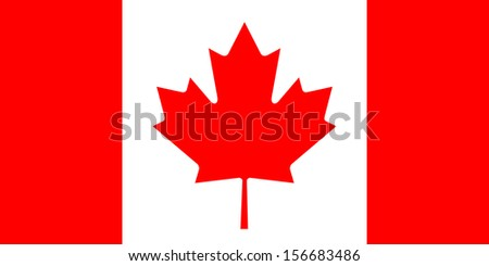 original and simple Canada flag isolated vector in official colors  and Proportion Correctly