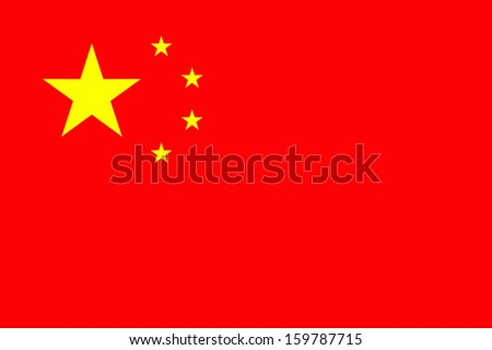 original and simple china flag