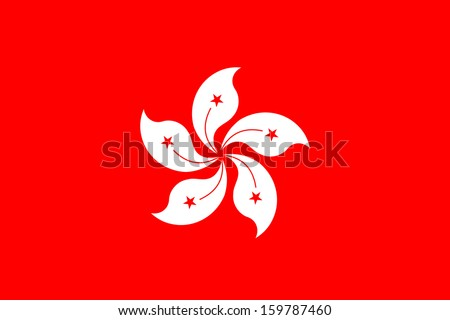 original and simple Hong Kong flag isolated vector in official colors and Proportion Correctly