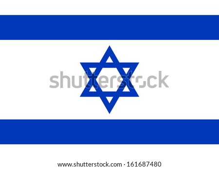 original and simple Israel flag isolated vector in official colors and Proportion Correctly