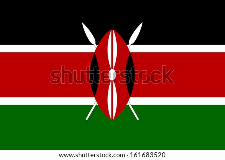 original and simple Kenya flag isolated vector in official colors and Proportion Correctly ストックフォト ©