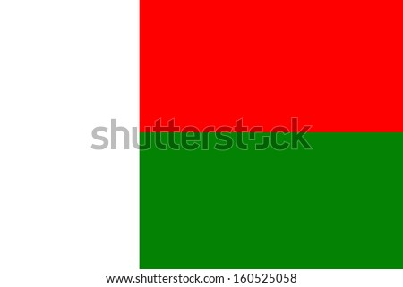 original and simple Madagascar flag isolated vector in official colors and Proportion Correctly