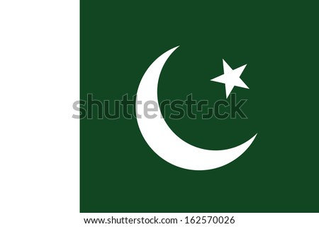 original and simple Pakistan flag isolated vector in official colors and Proportion Correctly (The Crescent and Star Flag)