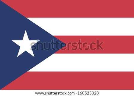 original and simple Puerto Rico flag isolated vector in official colors old style and Proportion Correctly
