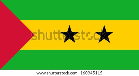 original and simple Sao Tome Principe flag isolated vector in official colors and Proportion Correctly