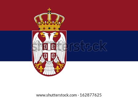 original and simple serbia flag