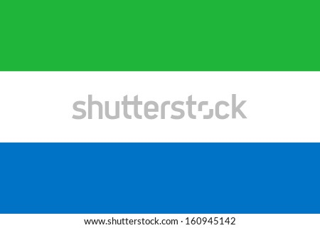 original and simple Sierra Leone flag isolated vector in official colors and Proportion Correctly