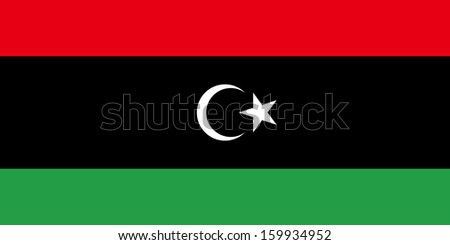 original and simple State of Libya flag isolated vector in official colors and Proportion Correctly