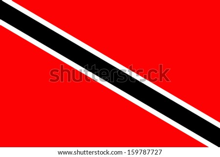 original and simple Trinidad and Tobago flag isolated vector in official colors and Proportion Correctly