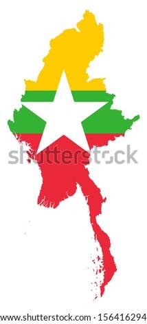 Official Burma Flag